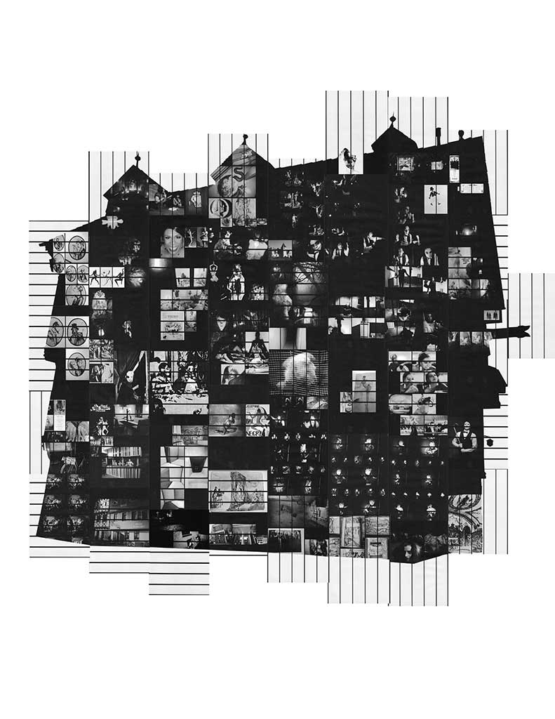 Artists' Group et al.'s Haunted House edition diagram, distributed by Cicada Press