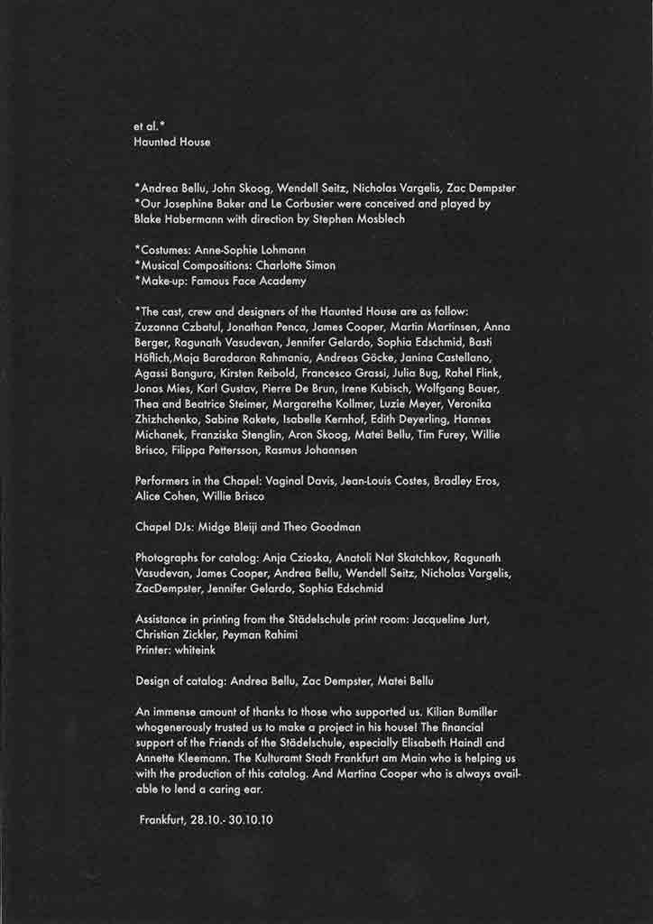 Artists' Group et al.'s Haunted House edition information, distributed by CIcada Press.