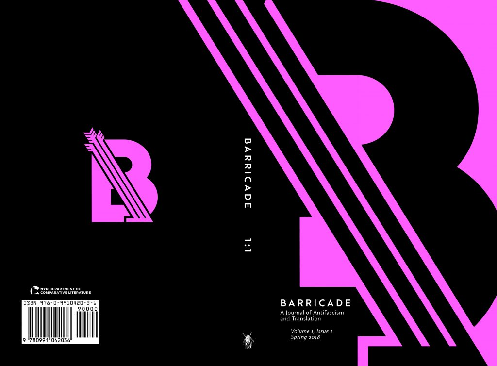 Barricade: A Journal of Antifascism and Translation Volume 1 Issue 1